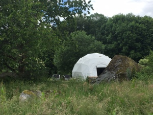 Geodesic dome in France