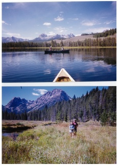 Camping and canoeing in the Sawtooth Mountains