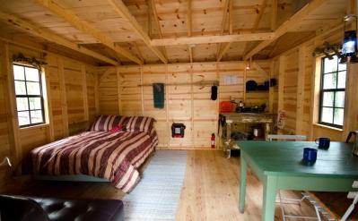 Typical hut interior