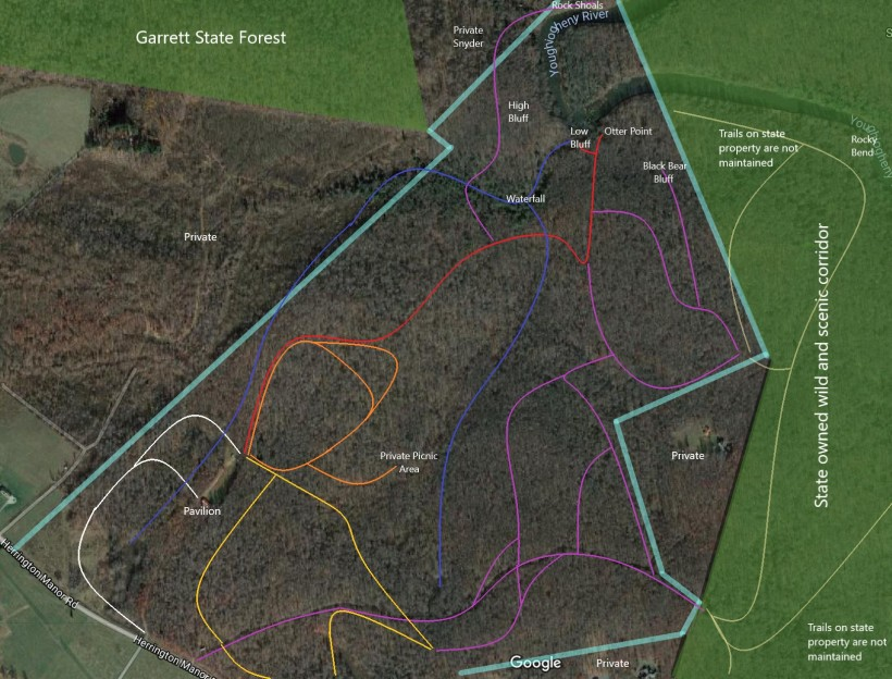 property map for trails - posted