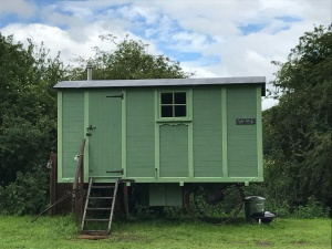 Shepherd hut in the English countryside
