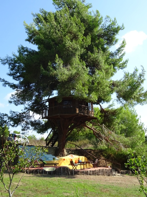 Treehouse in Greece